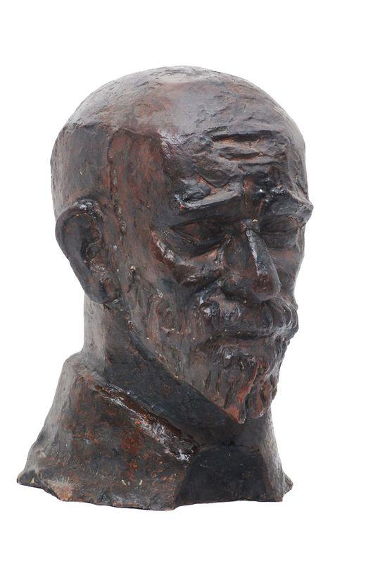 Janusz Korczak. Scalpture of Janusz Korczak's head