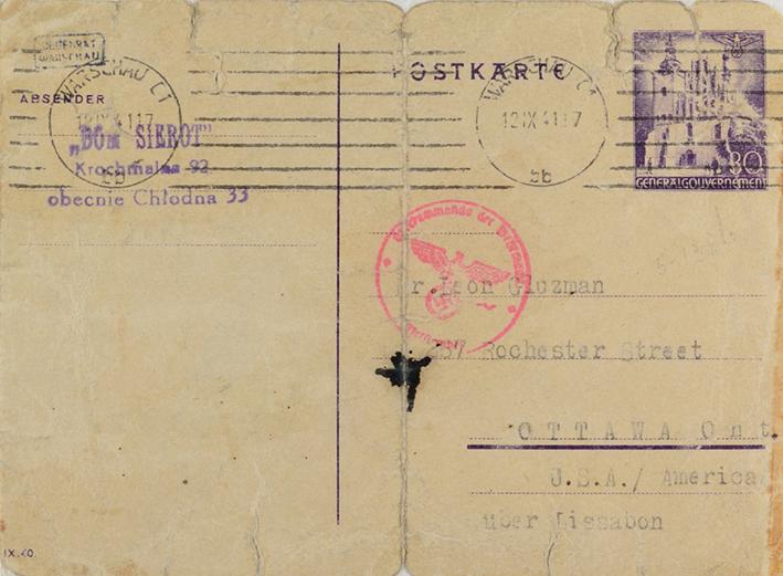 Postcard to Leon Gluzman
